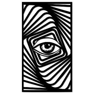Aplique de Parede Vortex Olho Em Madeira