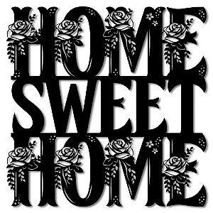 Aplique de Parede Home Sweet Home - Lar doce Lar Em Madeira
