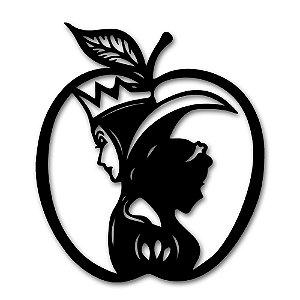 Aplique de Parede Maçã Princesa A Branca de Neve Em Madeira