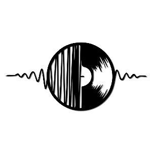 Aplique de Parede Disco De Vinil Música Em Madeira