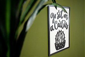 Quadro Decorativo Cactus em madeira