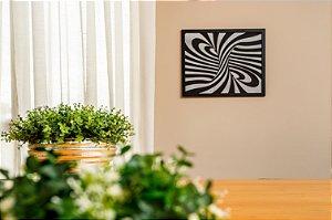 Quadro Decorativo Espiral 3D em madeira