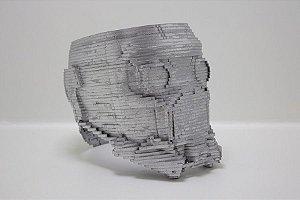 Máscara do Senhor das Estrelas 3D em MDF Prata 15cm