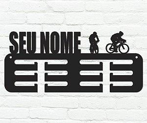 Porta Medalhas Ciclismo Personalizado em madeira mdf 12 ganchos