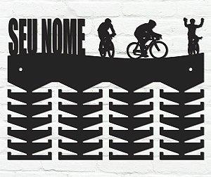 Porta Medalhas Ciclismo Personalizado em madeira mdf 48 ganchos