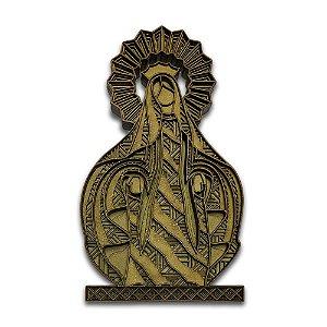 Quadro Decorativo 3D Nossa Senhora das Graças Multicamada em Madeira