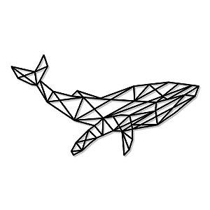 Aplique de Parede Baleia Geométrico Em Madeira