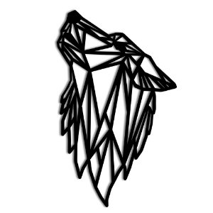 Aplique de Parede Lobo Geométrico Em Madeira - Modelos