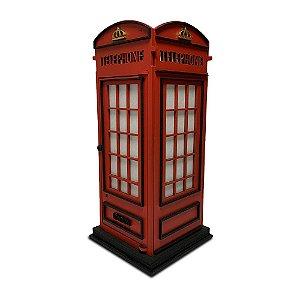 Abajur Luminária de Mesa Cabine Telefônica Londres Retrô