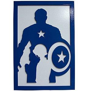 Quadro super herói - Capitão América
