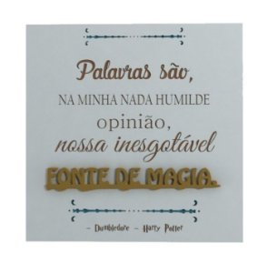 Quadro Fonte de Magia - Harry Potter