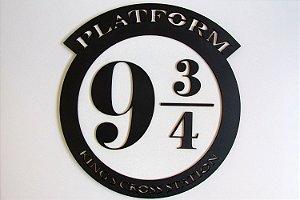 Quadro decorativo Harry Potter Estação 9 3/4