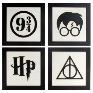 Conjunto de quadros Harry Potter