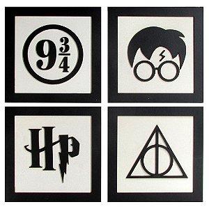 Conjunto de quadros Harry Potter