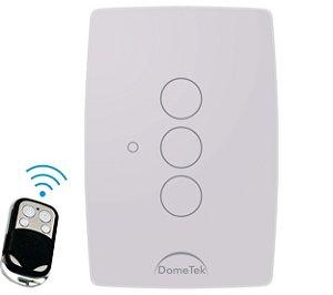 Interruptor Touch Rf 3 Vias Botões Pads Sense Paralelo Three Way - Dometek