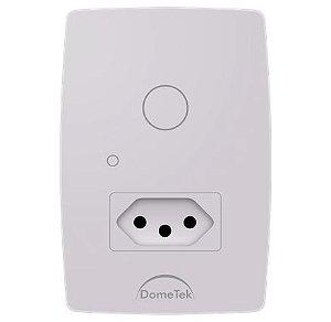 Interruptor Touch 1 Via + Tomada Botão Pad Sense Paralelo Three Way - Dometek