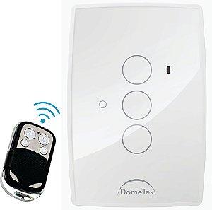Interruptor Touch Rf 3 Vias Botões Pads Diamond Paralelo Three Way - Dometek
