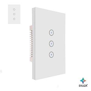 Interruptor Touch 3 Vias Inteligente Wifi Google Home Alexa