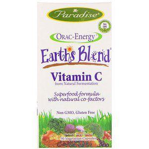 Paradise Herbs, Vitamin C, 90 Vegerian Capsules 500 mg + Blend de vegetais e frutos silvestres orgânicos