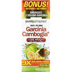 Purely Inspired, Garcinia Cambogia+, 100 Comprimidos Vegetais Fáceis de Engolir