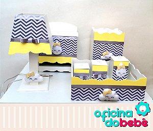 Kit Higiene MDF Chuva de Amor - Amarelo - 400606