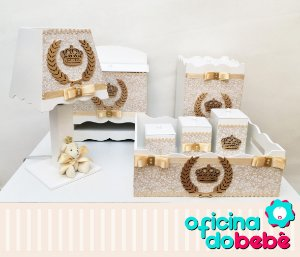 Kit Higiene MDF - Dourado -  400610