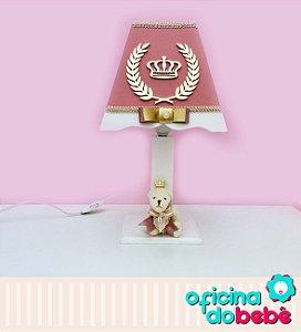 Abajur - Urso da Realeza - Rosa Escuro - 400611