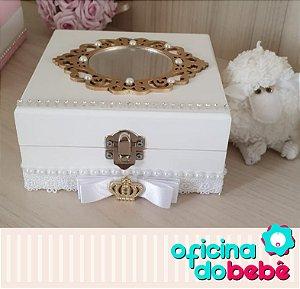 Caixa de Lembrancinhas - Branca com espelho
