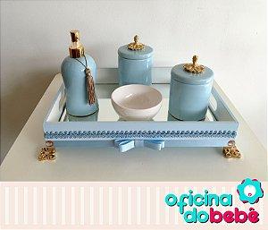 Bandeja Espelhada com Kit de Porcelana - 01