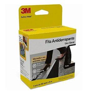 Fita Adesiva Antiderrapante Preto 3m Safety-walk 50mm X 5m