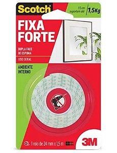 Fita Adesiva  Fixa Forte 24mm x 1,5m Scotch 3M