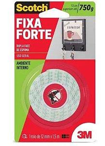 Fita Dupla Face Fixa Forte 12mm X 1,5m Amb Interno 3m