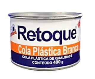 Cola Plástica Retoque Branca 400g