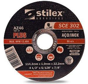 """Disco de Corte Fino 4.1/2"""" x 1,0mm x 22,2mm Stilex"""