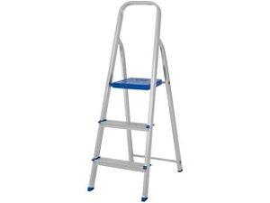 Escada Aluminio Domestica 3 degraus Mor