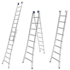 Escada Extensiva Alumínio - Várias Medidas - Mor