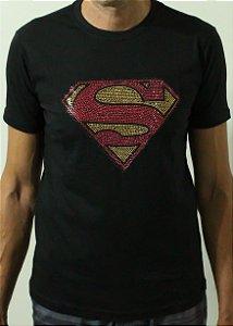 Camiseta Masculina - Superman/Super-Homem strass
