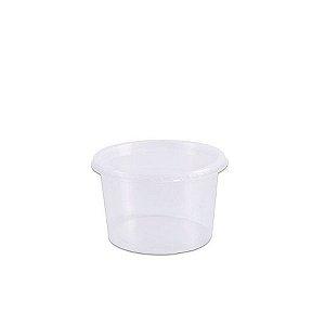 Pote De Plástico Descartável Com Tampa C/25un