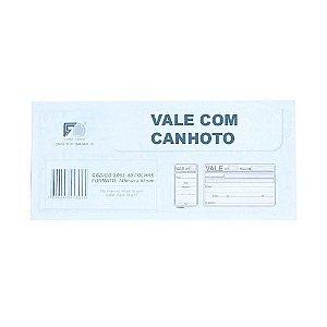 Vale Com Canhoto - 15,5x7cm - Com 50 Folhas (caixa 12 Unid)