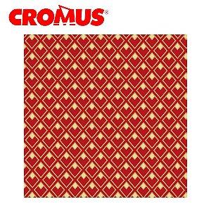Saco de Presente CROMUS - Jour Vermelho/Dourado