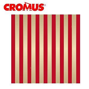 Saco de Presente CROMUS - Listrado Vermelho/Ouro