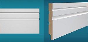 Rodapé Duratex em MDF Ultra Resistente essencial e-02 15cm preço por barra com 2,10 metros lineares