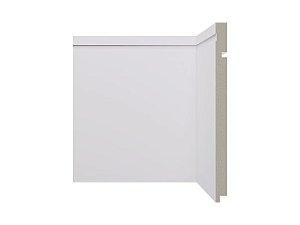 Rodapé Santa Luzia Branco 25cm modelo 546 - preço por barra com 2,40 metros lineares