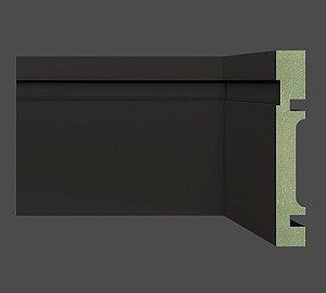 Rodapé e Guarnição MDF Ultra 10 cm 1002 resistente à umidade BLACK / PRETO - preço por barra com 2,40 metros lineares