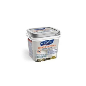 Eucatex Tinta PVA direto no Gesso e Drywall Branco gl 3,6