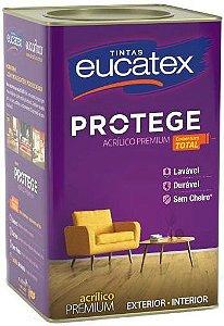 Eucatex Acrílico Fosco Protege Premium 18 L Cinza Prata rende até 400m² por demão