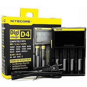 Carregador D4 - UBS - Nitecore®