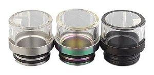 Drip Tip metálico com vidro 810
