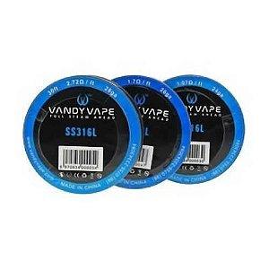 Fio SS316L 28GA 2.72ohm - Vandy Vape