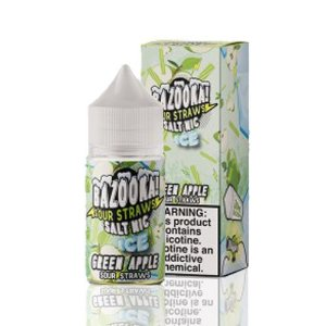 Líquido Bazooka! Salt - Sour Straws - Green Apple ice